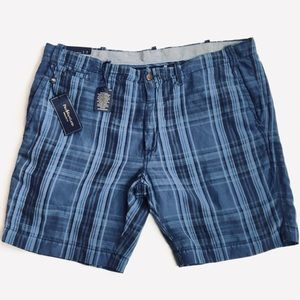 Polo Ralph Lauren Mens Silk Linen Plaid Shorts
